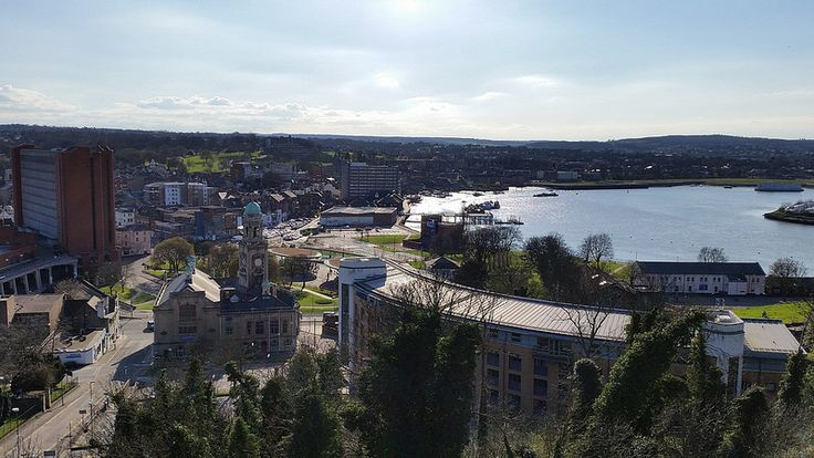 A view over Chatham town centre from Fort Amherst [shared]
