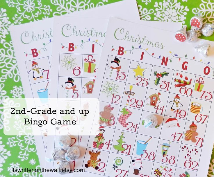 2 different Christmas Bingo Games for the holidays-Use wrapped candy for the playing pieces