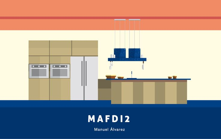 "MAFdi2 by Manuel Álvarez is a hood made of ""peltre"" (painted pewter) to evoque typicall Latin American kitchens - Casa Gutiérrez Nájera presented illustrations by Daniel Bravo celebrating designs of #Elica hoods by the most important #Mexican architects and designers."