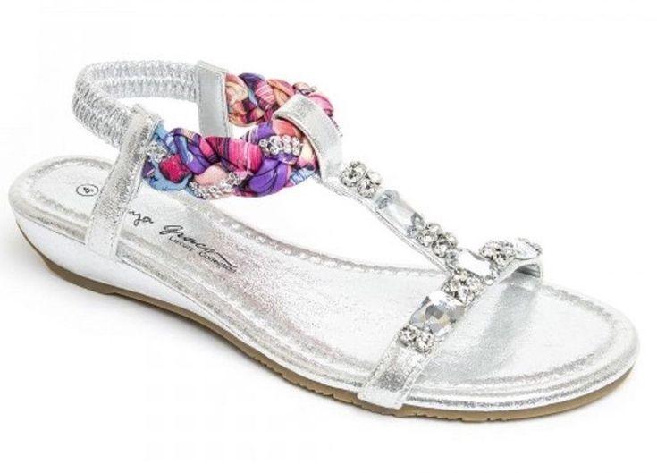 Womens Ladies Silver Wedge Heel Diamante T-Bar Shoes Sandals Size UK 3,4,5,6,7,8  #sandals #shoes #silver #T-bars #slingbacks #wedges #lowheel #diamante #fauxleather #slipon #summer #beach #shopping #style #fashion #footwear #forsale #womens #womensfashion #ladies #ebay #ebayseller #ebayshop #ebaystore