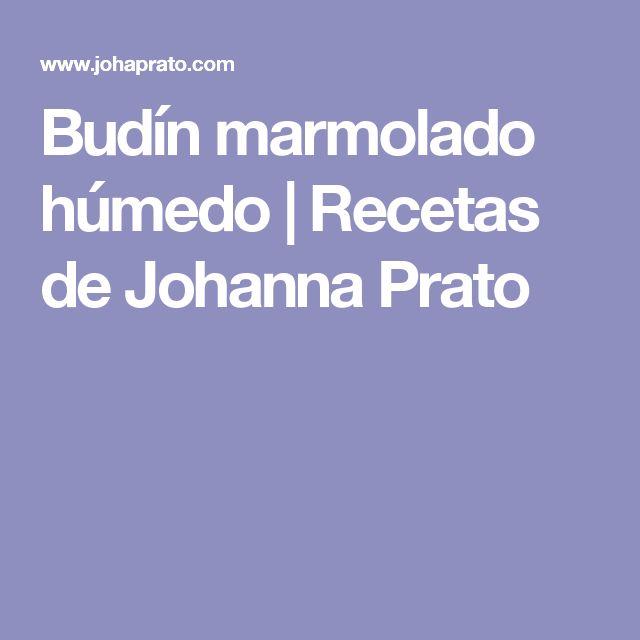 Budín marmolado húmedo | Recetas de Johanna Prato