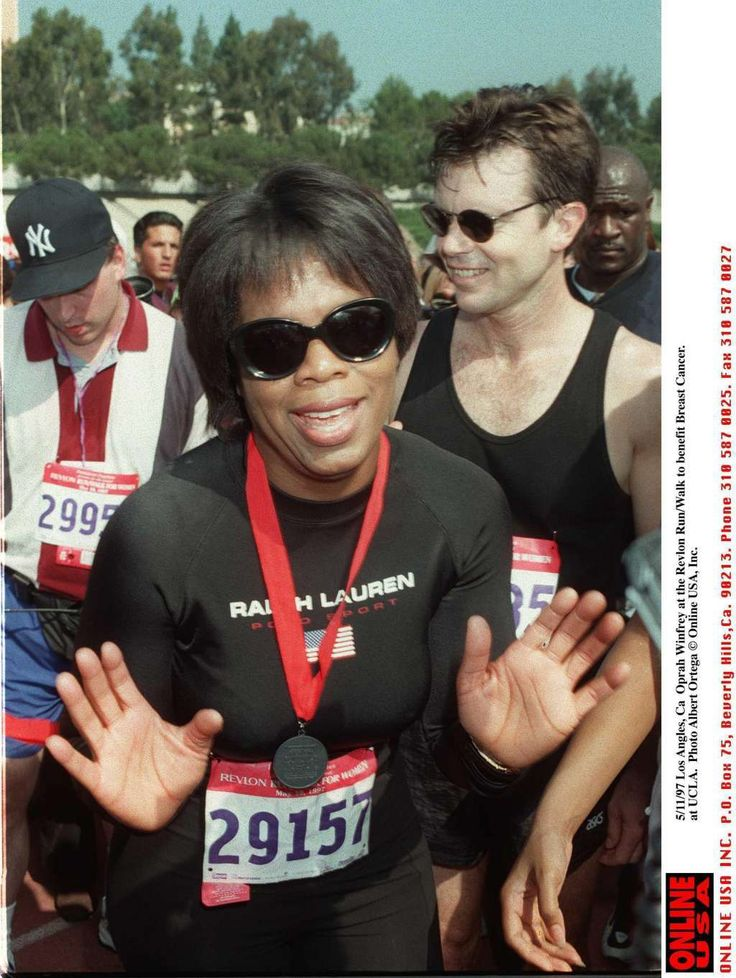 Oprah ran the Marine Corp Marathon | Famous People Who Are Runners