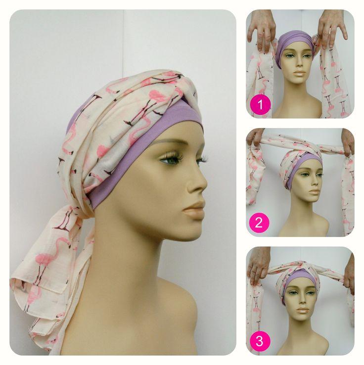 Chemo sjaal knopen: chique knoop