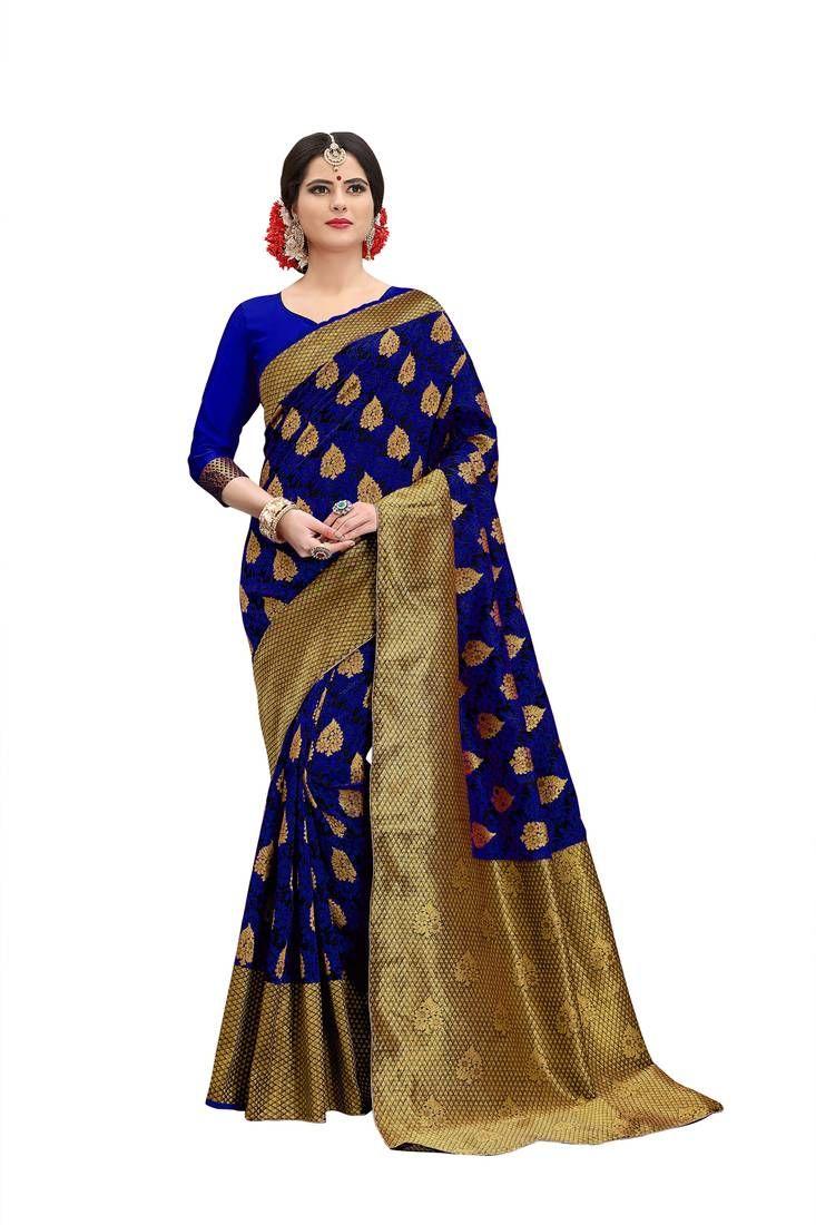 29867 Bollywood Saree /& Blouse Sari Designer Violet Woven Banarasi Art Silk