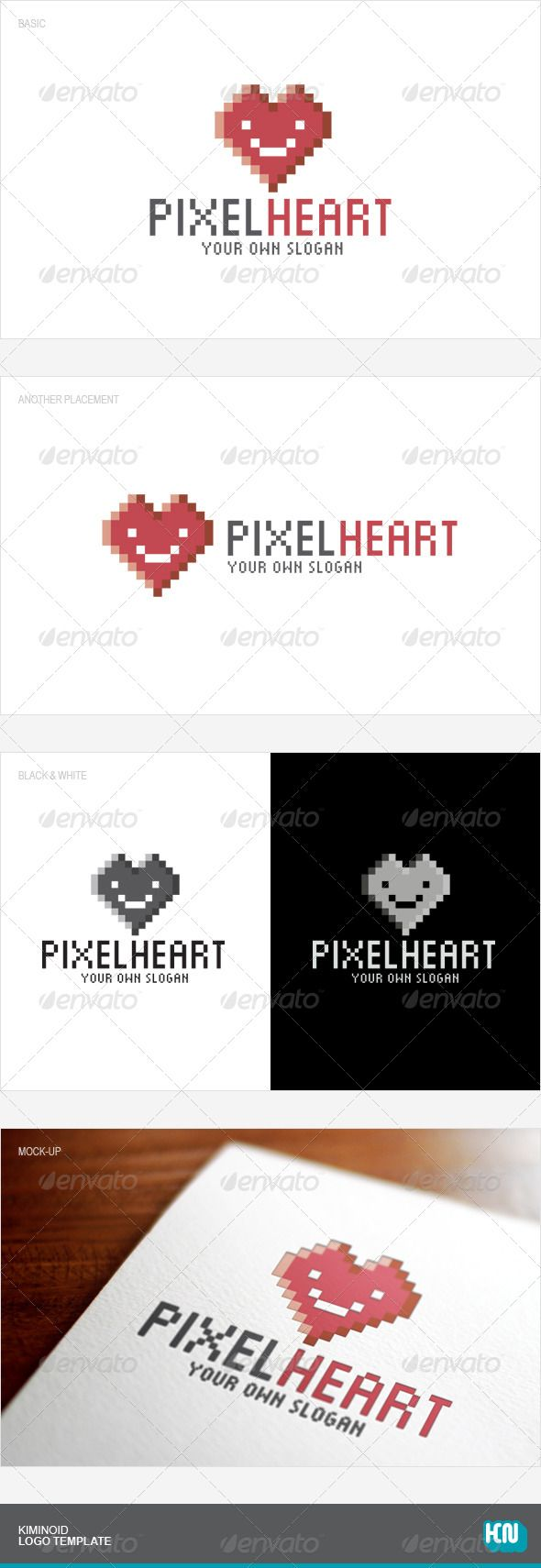 Pixel Heart  #GraphicRiver        Pixel Heart Logo Template Description   100% Vector  CMYK  AI & EPS  Ready to print  Full color version / black & white version  Easy to edit color & text  Free font used  Font   Munro       Created: 5March13 GraphicsFilesIncluded: VectorEPS #AIIllustrator Layered: No MinimumAdobeCSVersion: CS Resolution: Resizable Tags: brand #branding #business #characterlogo #company #corporate #creative #creativelogo #cute #design #designlogo #graphic #heart #logo…
