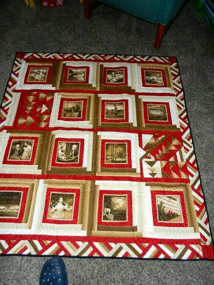 How to make quilt photo a