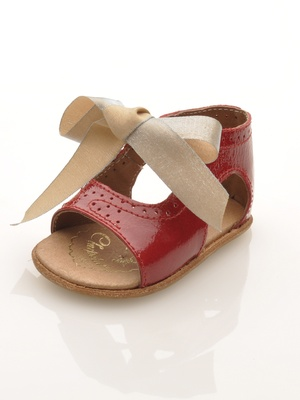 Chupeta Bary Sandal: Ridiculously chic red patent baby sandal from Paris. Also available in white, black, and silver.