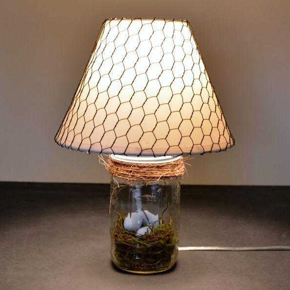 the mason jar lamp rustic spring decor, crafts, lighting, mason jars, repurposing upcycling, seasonal holiday decor