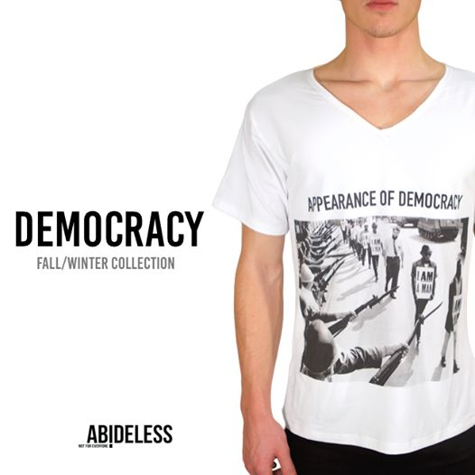 It was not so long ago when streets of cities were full of unequal men dreaming their dream of democratic and free life. The question which remains even today is whether our democratic principles are truly democratic giving us the same opportunity no matter of color and social position. Or is it only an appearance?Stay tuned for more! #ABIDELESS #FallWinter #Democracy