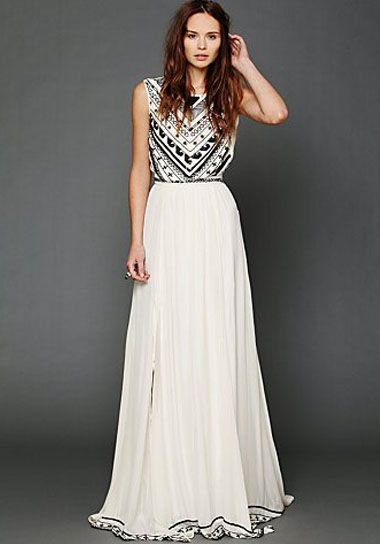 You might remember this stunning Mara Hoffman dress from Free People, it's back in stock and so perfect for a wedding dress!