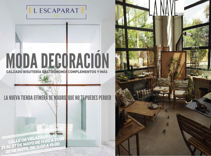 #LaNaveHome unimos lazos con #El_Escaparate, un espacio increíble de decoración y moda que no deberías perderte.  Estamos felices y encantados de poder colaborar con ellos en éste #popup.  Te esperamos del 25 al 27 de Mayo de 11:00 a 21:00 y el 28 de 11:00 a 15:00, en la C/de Velázquez, 12 de Madrid. Y recuerda que puedes visitar nuestro #Showroom donde encontraras la nueva coleccion de primavera-verano.