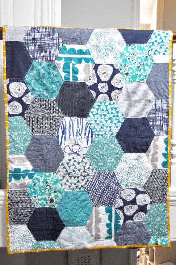 Large Hexies Quilt Pattern by BlueberryPark on Etsy, £4.50