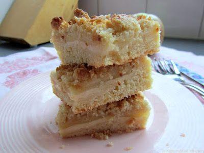Mijn mixed kitchen: Appelkruimelcake met vanillepudding