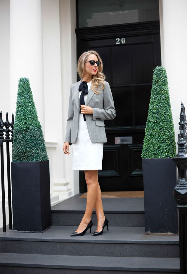 Interview: Client-Based Corporate (law firm, real estate, public relations, sales, marketing, advertising or account executives)   Stick to polished classics like shift dresses, blazers, and walkable heels. #realestateagentattire #realestateadvertising