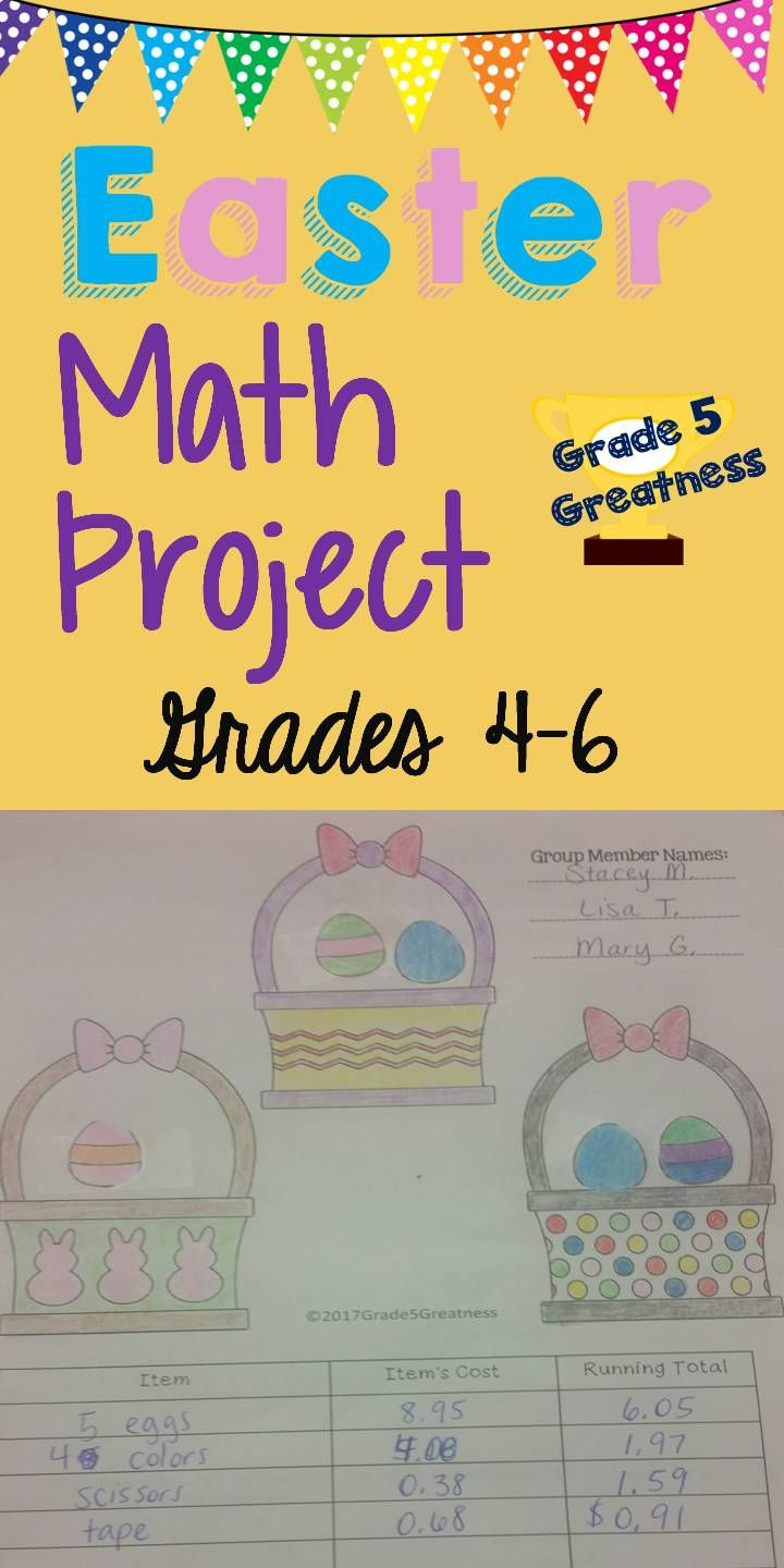 "In this Easter Math Project, students will receive an instruction paper that is either only about decimals or the one that is about fractions and decimals. They try to stay under budget as they purchase paper eggs from their teacher and try to fill their baskets! Paper baskets, paper eggs, and budget paper is included! Math and Easter make an ""egg-cellent"" combo! :) Happy Easter!"