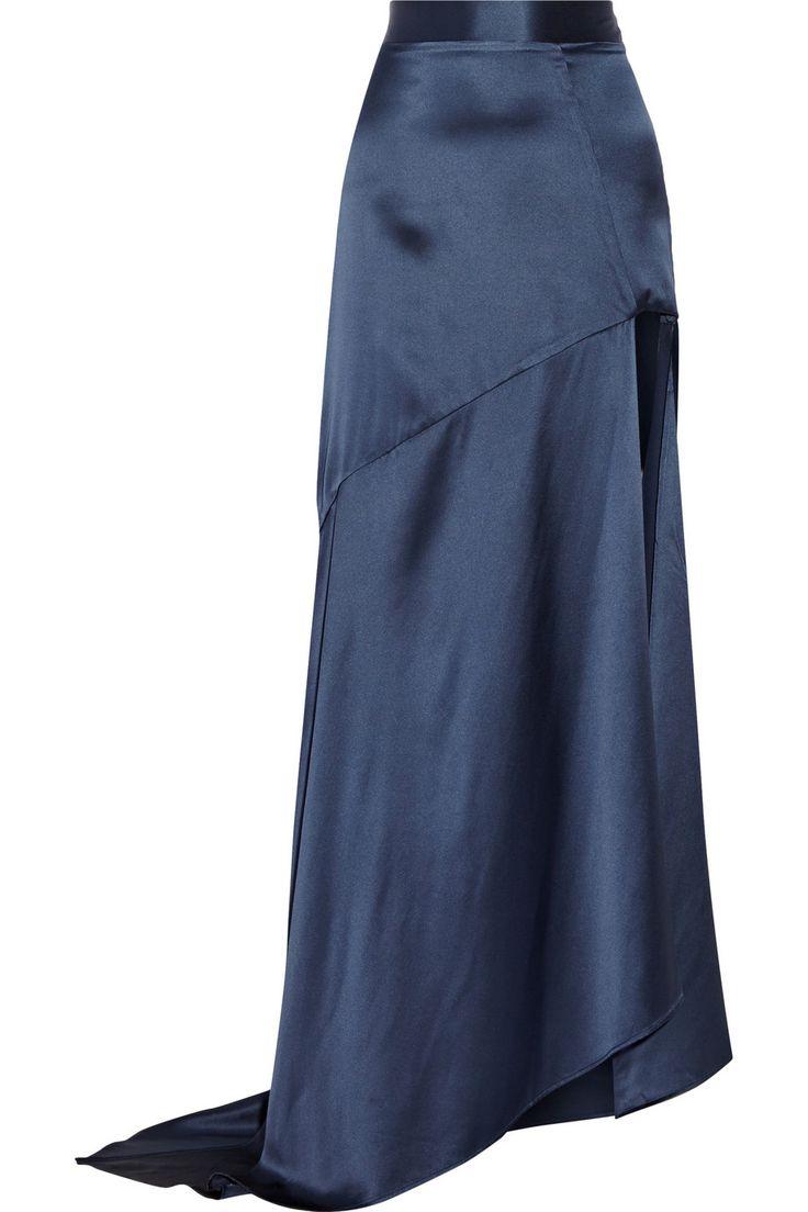 Michael Lo Sordo|Side-split silk-satin maxi skirt|NET-A-PORTER.COM