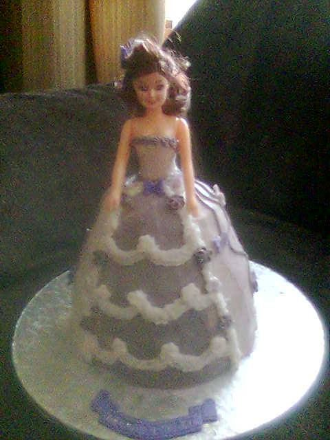 My very first Barbie Doll Cake in 2004
