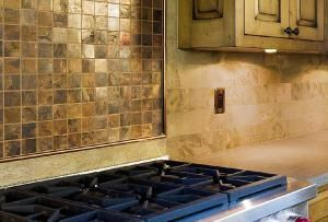 Backsplashes   Pictures      You     re tan Gorgeous  Kitchen Backsplash and dark with Inspirational shoes Beautiful  Kitchen Mosaics pants