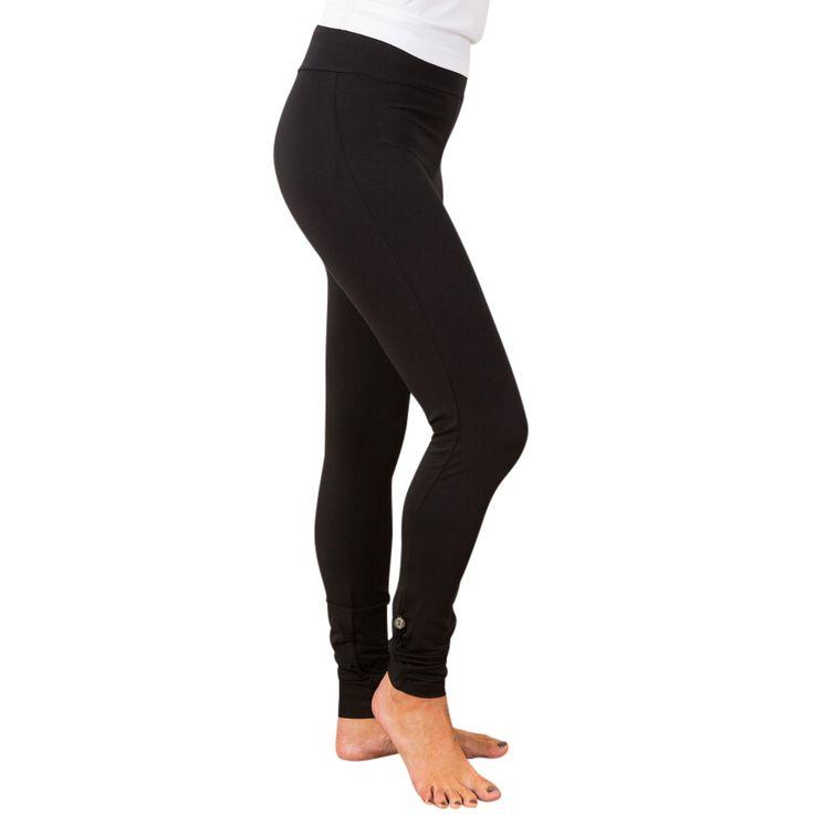Wrinkled leggings - black