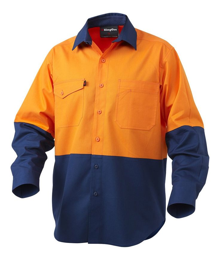 Workcool2 Hi-Vis Spliced Shirt Long Sleeve - Shirts - Mens