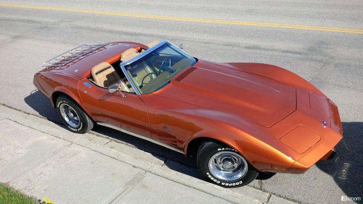 1975 Corvette painted in 2007 Corvette Atomic Orange color