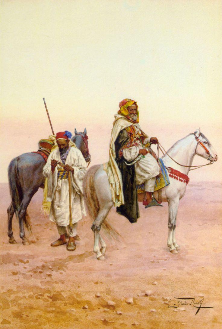 Giulio Rosati (Italian, 1858-1917). A Rest in the Desert