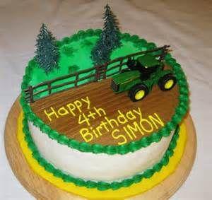 John Deere tractor cake — Children's Birthday Cakes