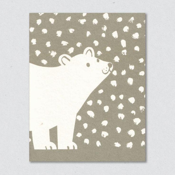 День рождения, открытки с белым мишкой своими руками