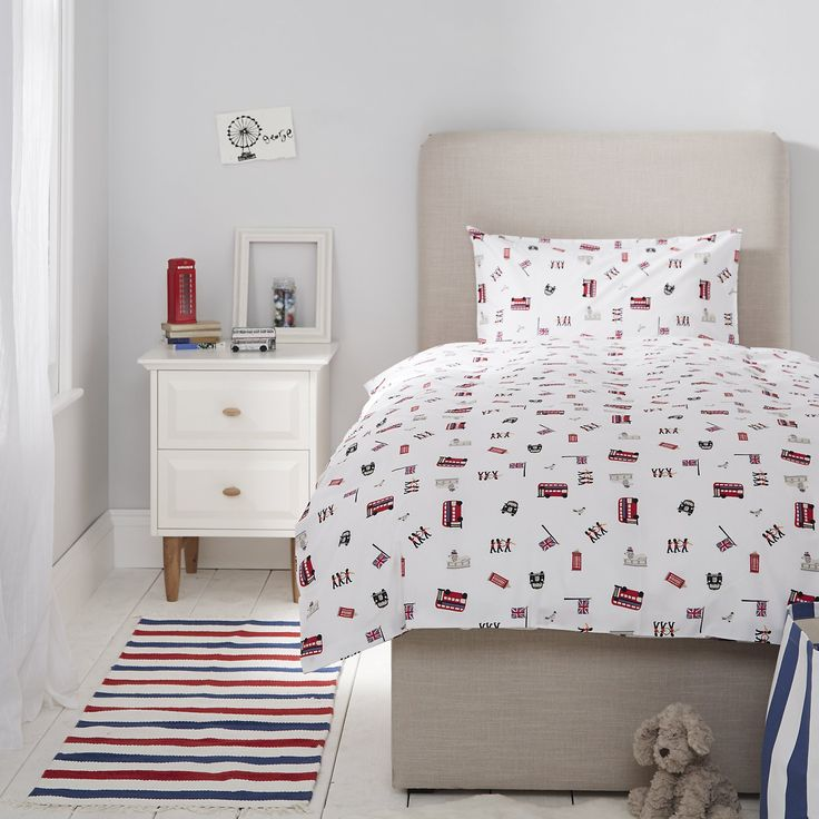 London Print Bed Linen | Children's Bed Linen | Childrens' Bedroom | The Little White Company | The White Company UK