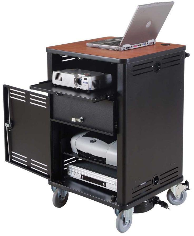 Portable Computer Cart Desk On Wheels