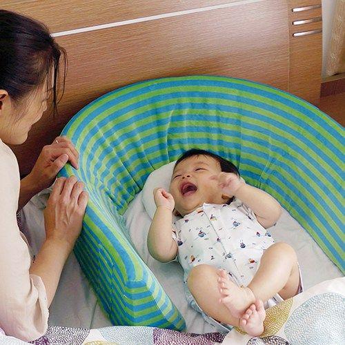赤ちゃんとママパパが安心して一緒に 添い寝 できるクッションベッドカバー