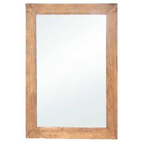 Espejo con marco en madera lavada Ancho 97 / Fondo 5 / Alto 154