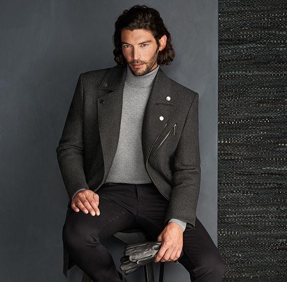 Giacomo Conti lookbook kolekcja jesień zima 2016 2017 - moda męska, stylizacje dla eleganckich mężczyzn