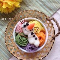 こんばんは!! 昨日から小学校組も夏休みに入りましたー!! 先日、カラフル素麺というのを見かけて🌈彩が可愛いし、着色料も自然のものが使われている様だったので買ってみました♪ 試しに茹でて、大根おろしなオラフをトッピングしてみました😝 ではでは皆さま楽しい夏休みを〜👋 #カラフル素麺☆#お子さまランチ 大根おろしなオラフ