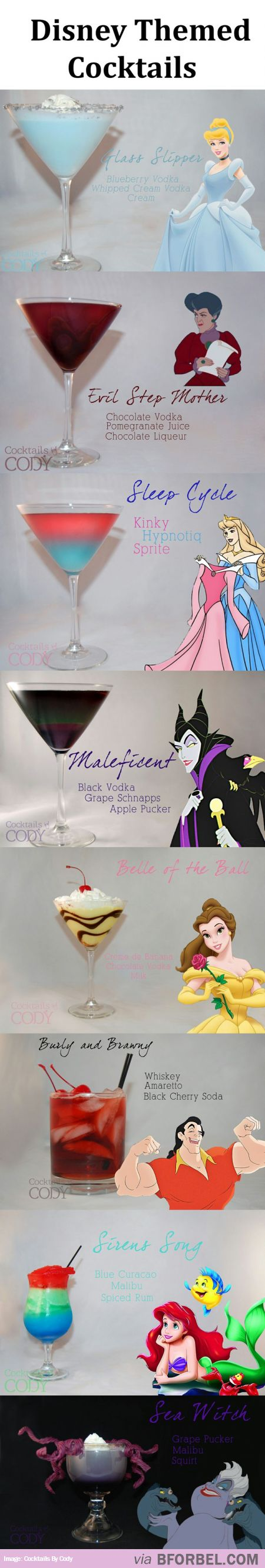8 Disney Themed Cocktails… Magical And Delicious! @Ashley Walters Walters Walters Walters Walters Walters Lang thanks for sending this!! I need to try ALL of these :)