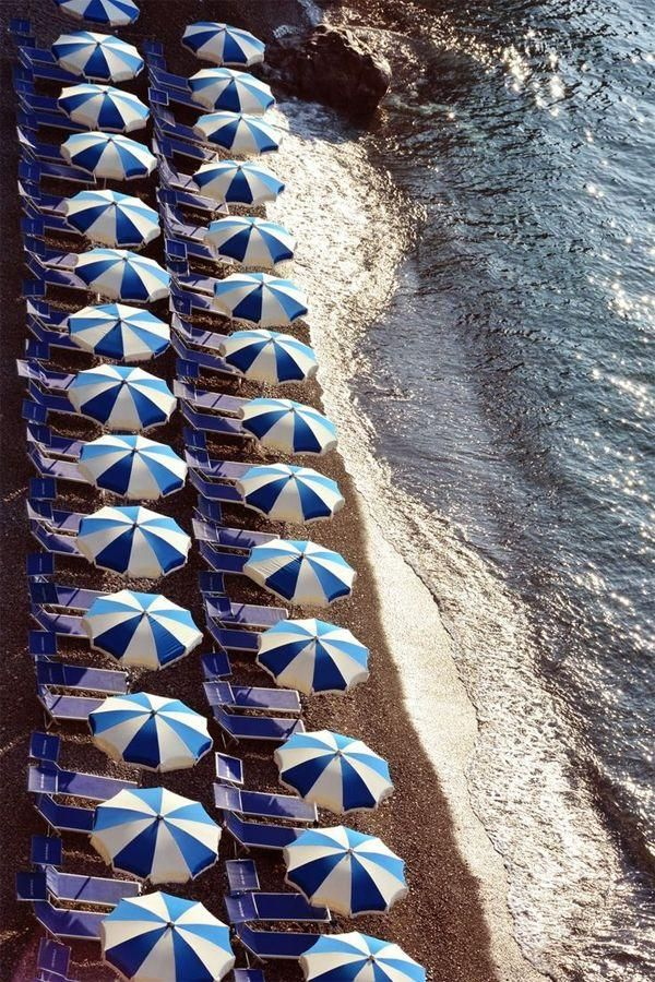 Beachy Blue Umbrellas