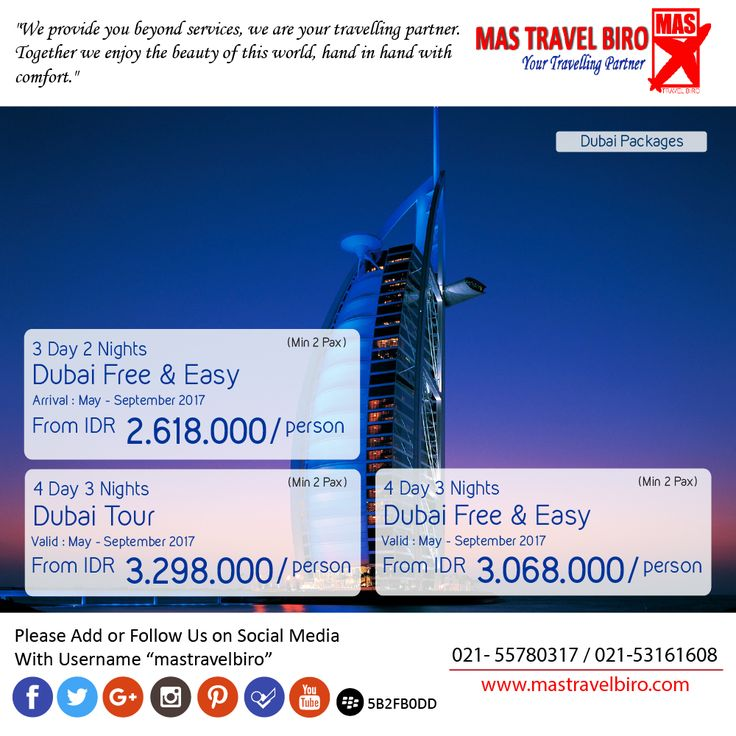Dubai Free & Easy start from IDR 2.618.000/Person. Book Now Travellers !! ;) #mastravelbiro #dubai #tour #middleeast