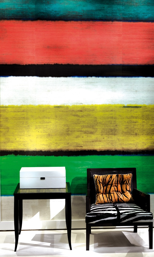 Try colour blocking a feature wall in a bold Artistic manner... Think a Rothko colour palette mixed with a Rouault division of colours