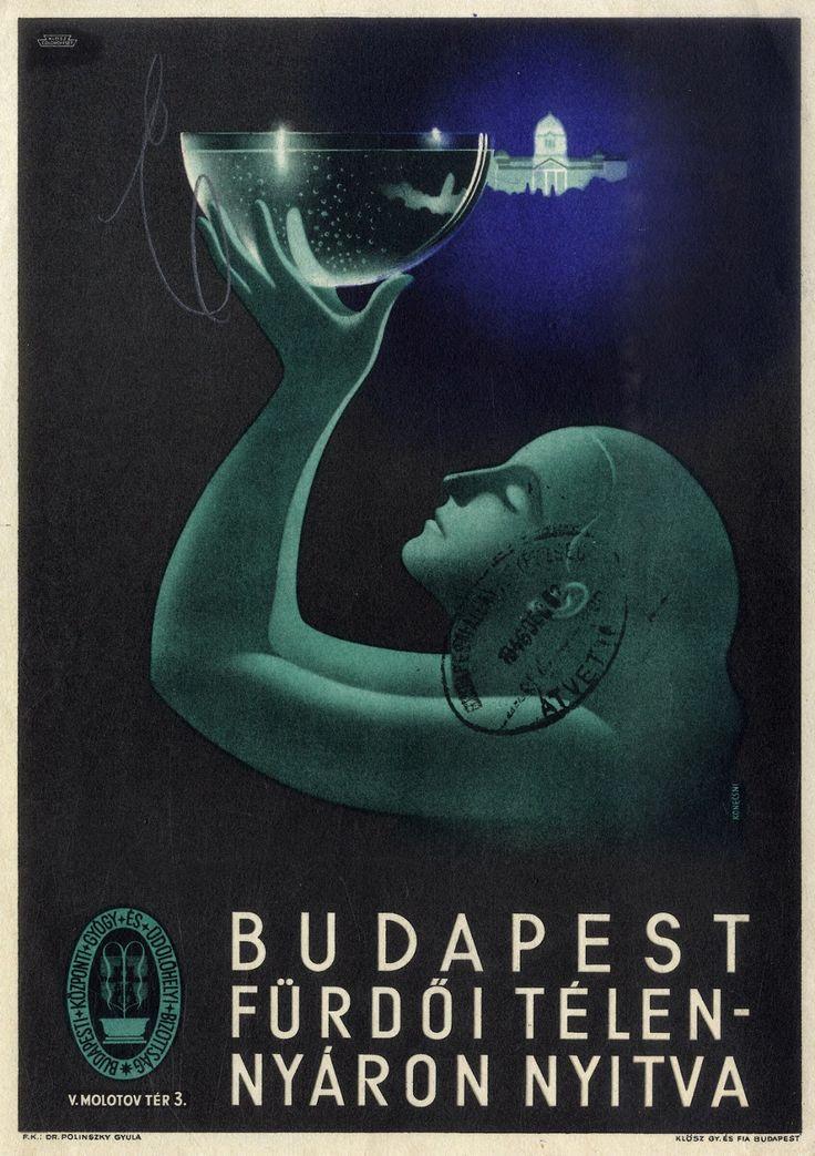 Budapest fürdői - plakát - 1946.