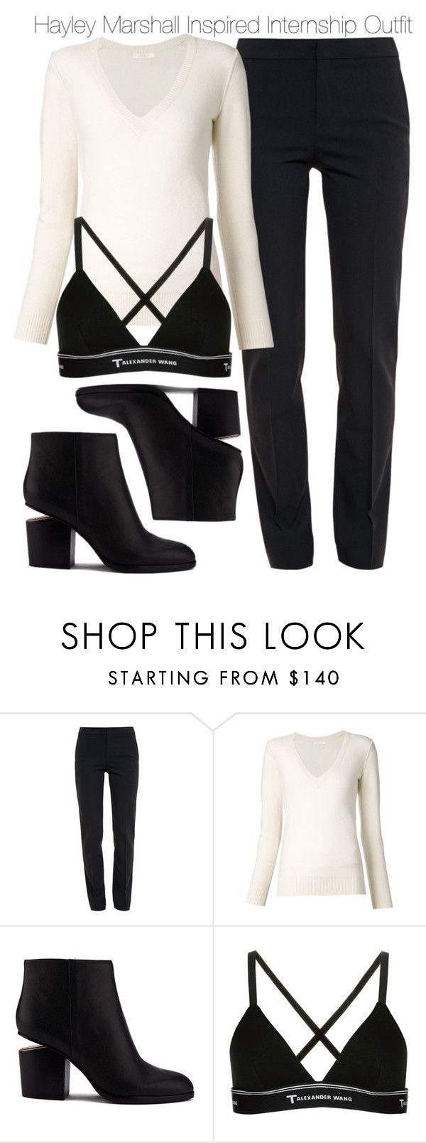 """""""Hayley Marshall Inspired Internship Outfit"""" by staystronng ❤ liked on Polyvore featuring Chloé, Alexander Wang, T By Alexander Wang, to, Work, internship and hayleymarshall"""