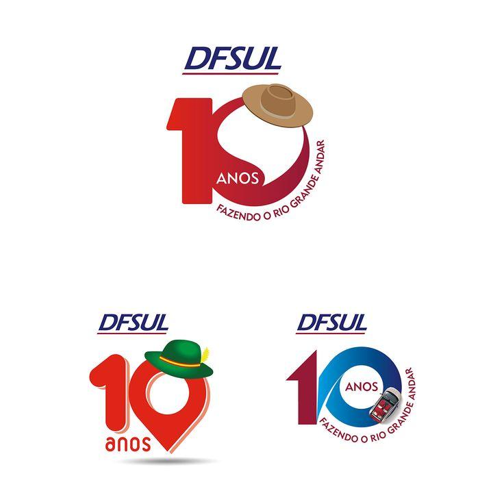 Cliente: DFSUL Fiat concessionária Santa Cruz do SUl Material: Selo 10 anos Agência: BAG propaganda