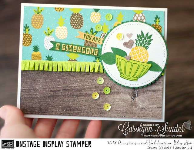 Care Bear Stamps: Stampin ' Up! 2018 Occasions & Sale-A-Bration Display Stamper Blog Hop ~ Day Three