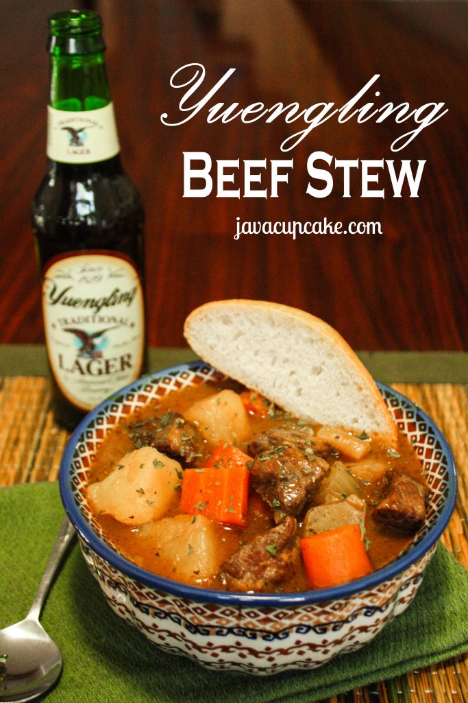 Yuengling Beef Stew by JavaCupcake.com