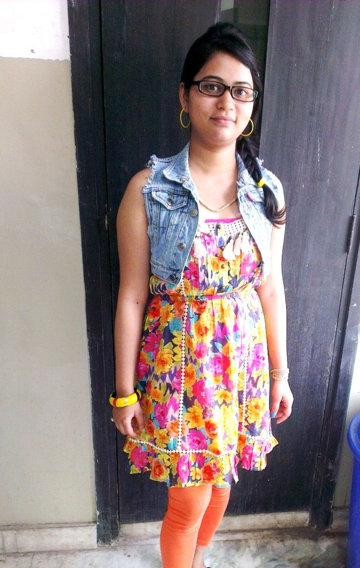 This bright floral dress. yeah I somewhat have obsession for denim jackets and have almost of all styles.