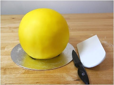 Как сделать мастику для обтяжки торта - YouTube