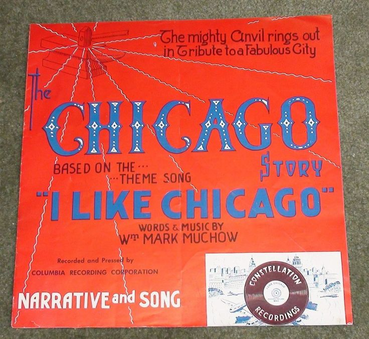 Chicago Story, 1940's Musical Sheet Music Booklet, Free Shipping