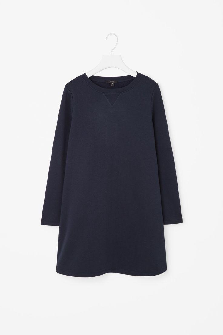 A-line sweatshirt dress