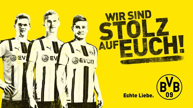 We are proud of you!  Matthias Ginter, Sven Bender, Raphael Guerreiro