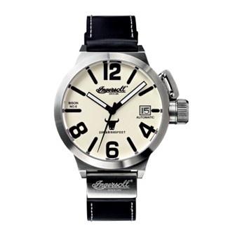 Reloj Ingersoll Bison 6 Crema Cuero Negro XXL Automático  http://www.tutunca.es/reloj-ingersoll-bison-6-crema-cuero-negro-xxl-automatico
