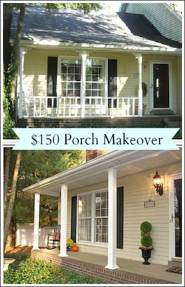 This is like the porch on my house.  Love that it's low to the ground.  If possible, would make this one even lower.  Or would have to make shallow stairs with a railing.